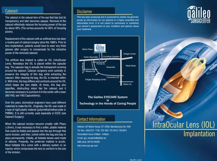 IntraOcular Lens Implants